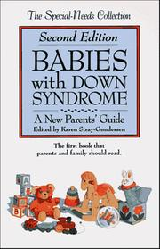 Cover of: Babies with Down syndrome | Karen Stray-Gundersen