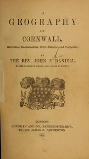 Cover of: A geography of Cornwall