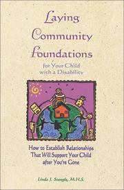 Cover of: Laying community foundations for your child with a disability