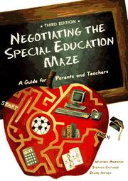 Cover of: Negotiating the special education maze | Winifred Anderson