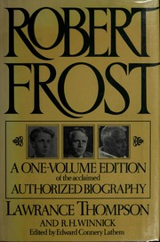 Cover of: Robert Frost, a biography | Lawrance Roger Thompson