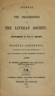 Cover of: Florula adenensis