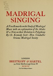 Madrigal singing by Charles Kennedy Scott
