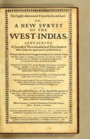 The English-American his travail by sea and land: or, A new survey of the West-India's [sic] by Gage, Thomas