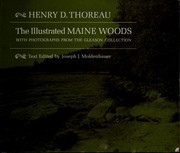 Cover of: The illustrated Maine woods | Henry David Thoreau