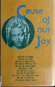 Cover of: Cause of our joy