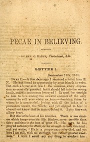 Cover of: Peace in believing