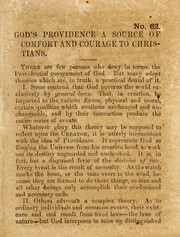 Cover of: God's providence a source of comfort and courage to Christians