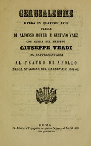 Cover of: Gerusalemme
