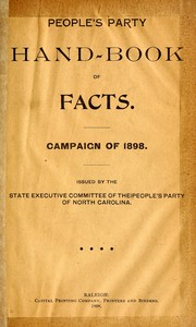 Cover of: People's Party hand-book of facts