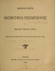 Cover of: Beethoven's seventh symphony