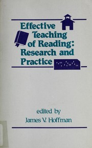 Cover of: Effective Teaching of Reading | James V. Hoffman