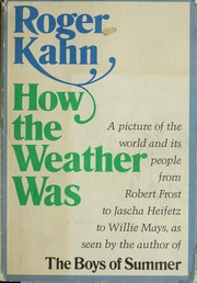 Cover of: How the weather was