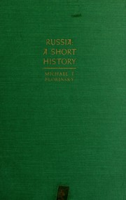 Cover of: Russia: a short history. | Michael T. Florinsky