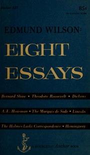 Cover of: Eight essays