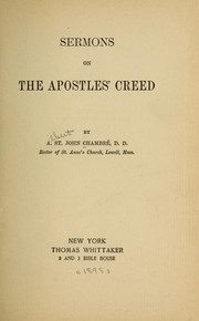 Cover of: Sermons on the Apostles' Creed