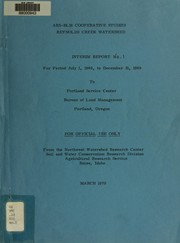 Cover of: ARS-BLM cooperative studies