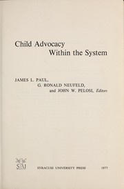 Cover of: Child advocacy within the system
