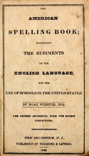 Cover of: The American spelling book