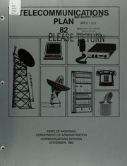 Cover of: Telecommunications plan '82