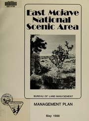 Cover of: East Mojave National Scenic Area management plan