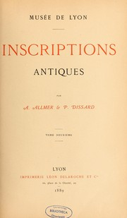Inscriptions antiques by Auguste Allmer