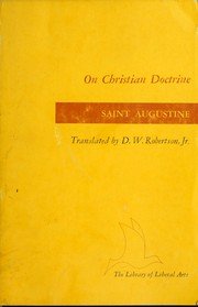 Cover of: On Christian doctrine