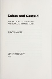 Cover of: Saints and samurai