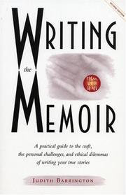 Cover of: Writing the memoir