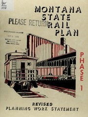 Cover of: Montana state rail plan | Montana. Office of Rail Planning