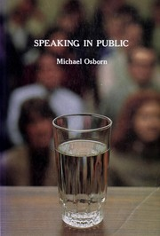 Cover of: Speaking in public