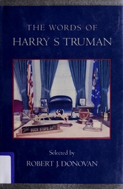 Cover of: The words of Harry S. Truman
