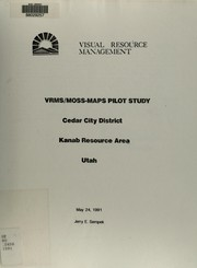 Cover of: VRMS/MOSS-MAPS pilot study