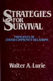 Cover of: Strategies for survival | Walter A. Lurie