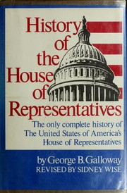 Cover of: History of the House of Representatives