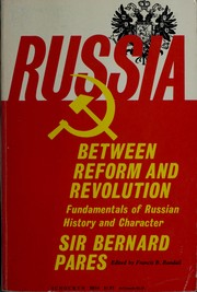 Cover of: Russia between reform and revolution | Bernard Pares
