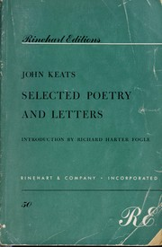 Cover of: Selected poetry and letters
