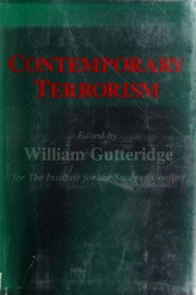 Cover of: The New terrorism | edited by William Gutteridge for the Institute for the Study of Conflict.