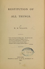 Cover of: Restitution of all things...