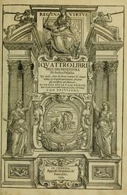 Quattro libri dellarchitettura open library cover of quattro libri dellarchitettura andrea palladio fandeluxe Gallery