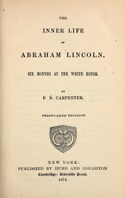 Cover of: The inner life of Abraham Lincoln