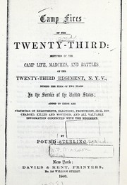 Cover of: Camp fires of the Twenty-Third