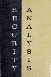 Cover of: Security analysis | Benjamin Graham