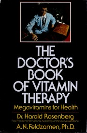 Cover of: The doctor's book of vitamin therapy