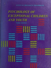 Cover of: Psychology of exceptional children and youth. | William M. Cruickshank