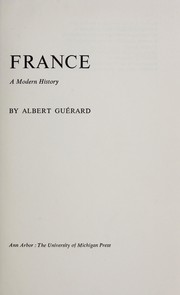 Cover of: France: a modern history.