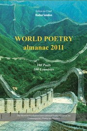 Cover of: World Poetry Almanac 2011, 180 Poets from 100 Countries |