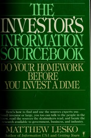 Cover of: The investor's information sourcebook
