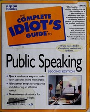 Cover of: The complete idiot's guide to public speaking
