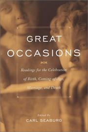Cover of: Great occasions